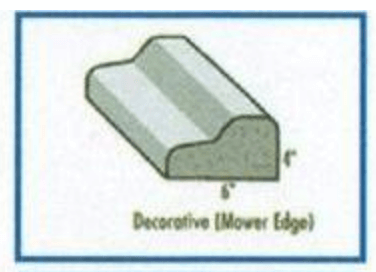 Decorative Mower Edge